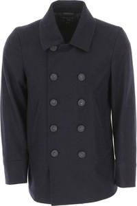 Granatowa kurtka Woolrich w stylu casual
