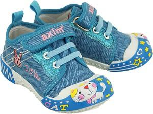 Błękitne trampki dziecięce Axim