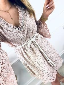Sukienka Kenza.pl z bawełny z długim rękawem