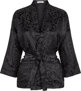 Czarny płaszcz Chosen Skin w stylu casual