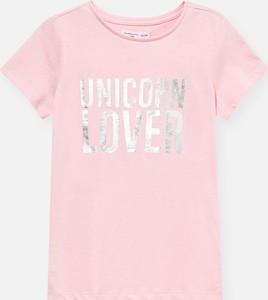 Różowa koszulka dziecięca Sinsay