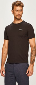 Czarny t-shirt Emporio Armani z dzianiny