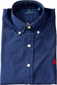Niebieska koszula POLO RALPH LAUREN z kołnierzykiem button down