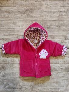 Czerwona kurtka dziecięca Elegrina dla dziewczynek