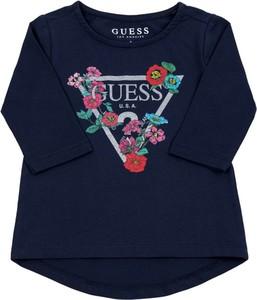 Granatowa bluzka dziecięca Guess