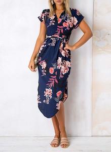Sukienka Sandbella w stylu boho asymetryczna mini