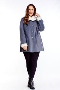 Niebieski płaszcz Ptakmoda.com w stylu casual