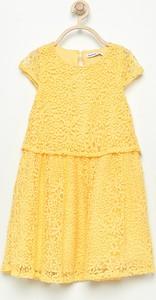 Żółta sukienka dziewczęca Reserved