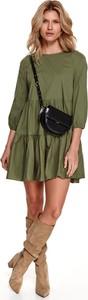 Sukienka Top Secret koszulowa mini z tkaniny