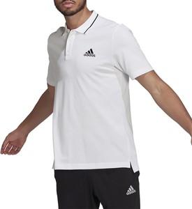 T-shirt Adidas z krótkim rękawem z bawełny w sportowym stylu