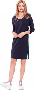 Granatowa sukienka L'AF w sportowym stylu sportowa
