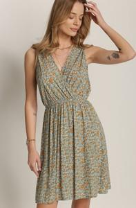 Sukienka Renee z dekoltem w kształcie litery v mini trapezowa