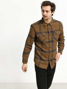 Brązowa koszula Brixton z żakardu