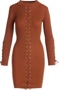 Sukienka Multu w stylu casual mini z długim rękawem