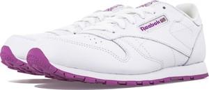 Buty sportowe Reebok ze skóry sznurowane z płaską podeszwą