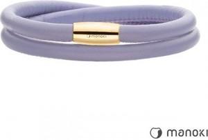 Manoki BA511GPL fioletowa bransoletka damska ze skóry naturalnej