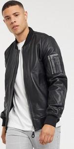 Czarna kurtka SCHOTT w stylu casual