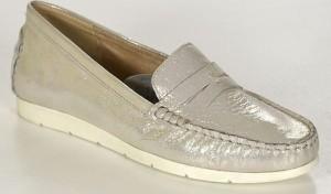 Caprice 24251-28 offwhite glitter półbuty damskie