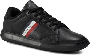 Tommy Hilfiger Sneakersy Essential Leather Cupsole FM0FM02987 Czarny