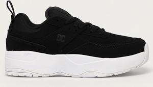 Czarne buty sportowe DC Shoes na platformie sznurowane