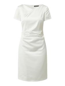 Sukienka Swing z satyny z krótkim rękawem mini