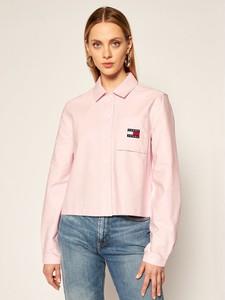 Koszula Tommy Jeans z długim rękawem z kołnierzykiem