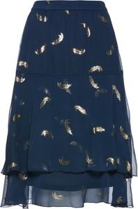 Niebieska spódnica bonprix bpc selection premium z szyfonu