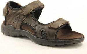 Brązowe buty letnie męskie American Club