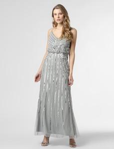 Srebrna sukienka Hailey Logan maxi na ramiączkach