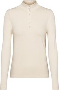 Bluzka EDITED z długim rękawem w stylu casual z golfem