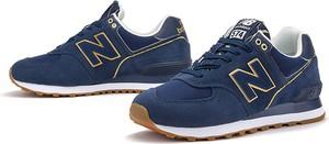 Niebieskie buty sportowe New Balance ze skóry