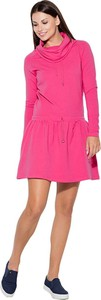 Sukienka Katrus z golfem mini z długim rękawem