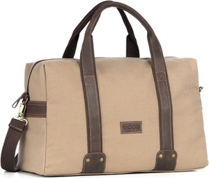 Brązowa torba podróżna Kemer z bawełny