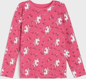 Różowa bluzka dziecięca Sinsay