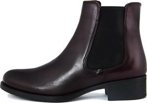 Czarne botki Roberto Carrioli na obcasie w stylu casual