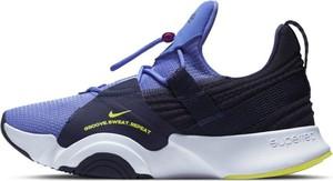 Niebieskie buty sportowe Nike z płaską podeszwą