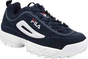 Buty sportowe Fila ze skóry z płaską podeszwą sznurowane
