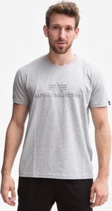 T-shirt Alpha Industries z żakardu