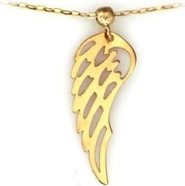 Lovrin Złoty naszyjnik 585 celebrytka skrzydło z kuleczką