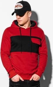 Czerwona bluza Ombre w młodzieżowym stylu
