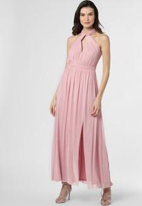 Różowa sukienka Lipsy maxi z dekoltem w kształcie litery v na ramiączkach