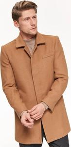 Płaszcz męski Top Secret z wełny