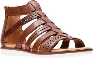 Sandały Clarks ze skóry w stylu casual