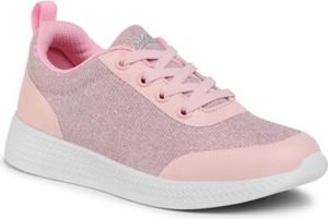 Różowe buty sportowe dziecięce Sprandi sznurowane dla dziewczynek