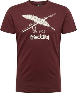 Czerwony t-shirt Iriedaily z krótkim rękawem