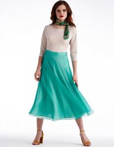 Zielona spódnica POTIS & VERSO z jedwabiu