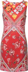 Sukienka Desigual oversize w stylu casual z lnu