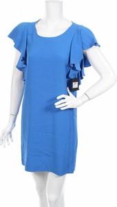 Niebieska sukienka Naughty Dog mini z krótkim rękawem