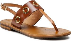Brązowe sandały Geox z klamrami