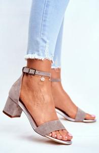 Sandały Sergio Leone z zamszu